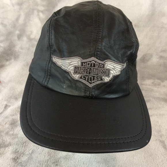 Harley-Davidson Accessories - All Leather Harley Davidson Baseball Cap d3d7214563e